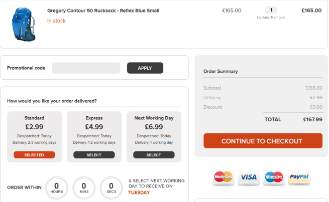 Smooth Checkout option for eCommerce websites