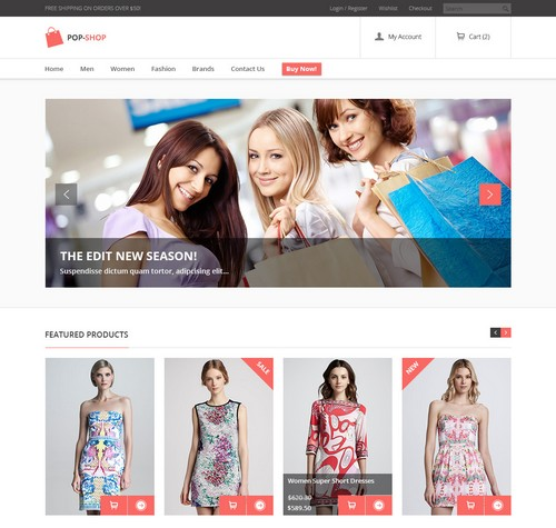 High Quality Image in eCommerce website design